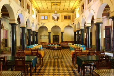 Main Hall of Chettinad Mansion