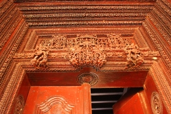 An Intricately carved wooden door