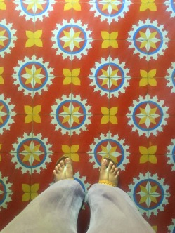 Flooring of Athangudi Tiles
