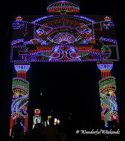 Lighting displays along the roads