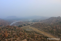 Tungabhadra river from Matanga HIll