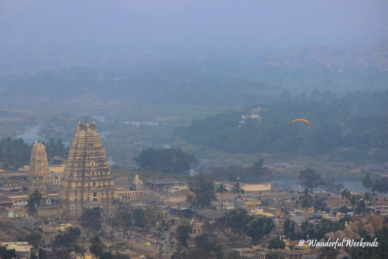 Virupaksha Temple and Hampi Bazar from Matanga Hill