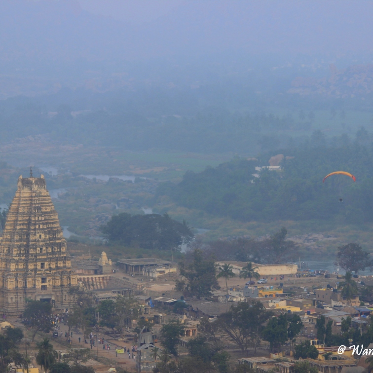 Virupaksha Temple and Hampi Bazar from Matanga Hill