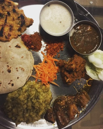A traditional Vidharba meal