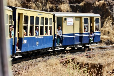 The toy train chugging it's way up to Matheran